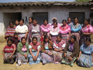 An artisan group from Mayan Hands, the group that distribute's Gloria's work