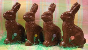 chocolate-bunny-with-flower
